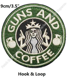 $enCountryForm.capitalKeyWord Australia - Green Tactical Guns and Coffee TACTICAL US MILITARY OPS RED Hoop & Loop PATCH MORALE MILSPEC badge for clothing cap bags hat