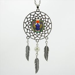 Egypt Pendants Australia - 2017 Trendy Style Dreamcatcher Pendant Egyptian Scarab Necklace Ancient Egypt Jewelry Dream Catcher Necklace NDC-0021