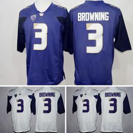 6006fb286 Free shipping Washington Huskies 3 Jake Browning America College Football  Purple White Jersey Men Embroidery Logos Stitched Jerseys Uniforms