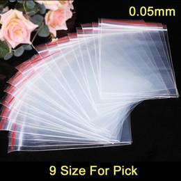 Vente en gros 100pcs / lot sacs en plastique zip-lock sceller sacs sacs refermables à fermeture éclair 9 taille pour ramasser