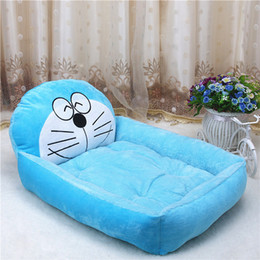 large pet mat Canada - Cute Animal Doraemon Cartoon Large Dog Beds Mats Teddy Pet Dogs Sofa Pet Cat Bed For Dogs House Big Blanket Cushion Puppy Supplies S-XL