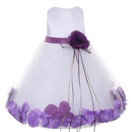 dae59c4133 Venta al por mayor- Bebé niña Primer cumpleaños Infantil Vestido de fiesta  Princesa Flor Vestido de dama de honor Niña pequeña Niño Bautizo Bautismo  Ropa