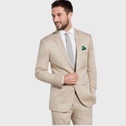 Discount Beige Cotton Slim Fit Suit | 2017 Beige Cotton Slim Fit ...