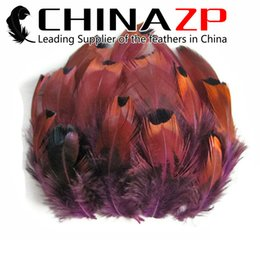 Led Accessories For Parties Wholesale UK - Leading Supplier CHINAZP 6~10cm 100Pcs lot Loose Dyed Purple Ringneck Pheasant Plumage Feather for Party Decoration