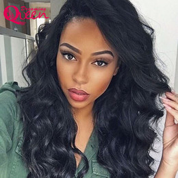 Discount young wigs - Virgin Human Hair Body Wave Wigs Bleached Knots Lace Frontal Wig Popular Malaysian Hair Swiss Lace Cap Lace Front Wigs f
