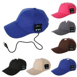 China Wireless Bluetooth cap Headphone Sports Baseball Caps Canvas Sun Hat Music Handsfree Headset with Mic Speaker for Smart Phone iphone 7 8 cheap bluetooth hat headphones suppliers