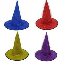 $enCountryForm.capitalKeyWord Australia - Colorful Adult Women Men Witch Hat Stage Performance Party Hats Halloween Costume Accessory Party Cosplay Props