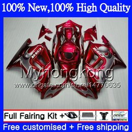 Pink honda motorcycles online shopping - Red silvery Bodys Motorcycle For HONDA CBR600 F3 CBR600RR F3 CBR600FS MY1 CBR F3 FS CBR600F3 CBR F3 Fairing kit
