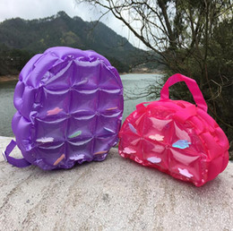 inflatable candy Canada - 2017 Newest High Quality Candy colors Inflatable Bag Waterproof Backpack Handbag Beach Sport Bags Transparent PVC Swiming Bag Float Dry Bag