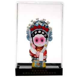 sculpture cartoons NZ - The Q version of the cartoon opera dolls Chinese traditional crafts sculpture sculpture business gifts gifts to go abroad