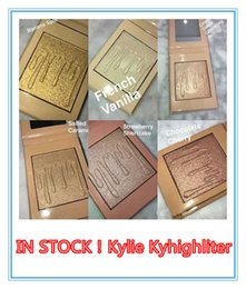 online shopping 2017 Kylie Kylighter Glow Kit Highlighters Colors Kylie Cosmetics French Vanilla Cotton Candy Salted Carmel Highlighter Glow Face Makeu