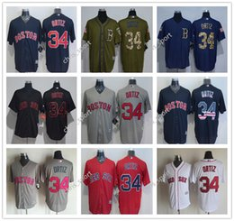 a68119843d1 ... Boston Red Sox 34 David Ortiz throwback Navy Blue Usa Flag Gray Red  Black White Fashion ...