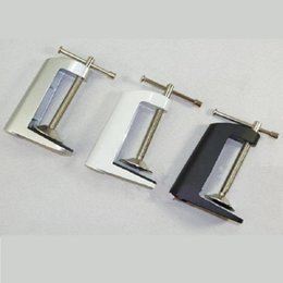 """Chinese  2pieces lot 2017 New 3.5"""" Aluminum Miniature Small Mount holder Clamp On Table Bench Vise Tool for magnifying glass table lamp accessories manufacturers"""