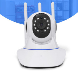 Cctv Wifi Ip Australia - Mini CCTV WiFi Camera IP 720P Home Security Camera Wi-Fi P2P Two Way Audio Night Vision 3 Antennas Wireless Baby Monitor