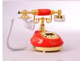 $enCountryForm.capitalKeyWord Canada - Decoration Arts crafts home ANENG Retro Vintage Antique Style Floral Ceramic Home Decor De Ceramic Crafts Desk dial process Telephone Model