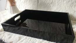 Box Jewelry Storage Organizer Black Canada - Luxury Black Acrylic Lady Make Up Desktop Jewelry Organizer CC Cosmetic Storage Box Perfume Lipstick Lip Tray Sorting Box