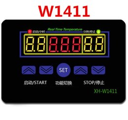 digital controllers UK - W1411 Digital LED multi-function Digital DC12V 220V 10A Temperature Controller three windows display thermometer control switch -19C-99C