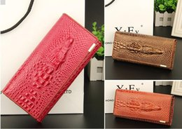 real alligator purse Canada - baellerry Foreign Trade Leisure High Quality Crocodile Grain Real Genuine Leather Women Wallets Large capacity Card Holder Purse Wallet