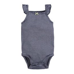 dca49b048a8a Baby Girls Striped Rompers Boutique Camisole Jumpsuits Sleeveless Tops  Outfits Bow Newborn Infant Toddler Clothing Summer