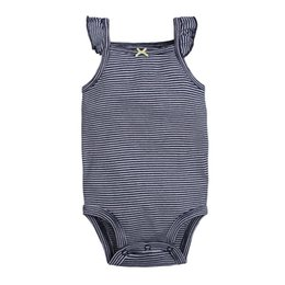 Mono Camisola Baratos-Bebé rayado Rompers Boutique Camisole Jumpsuits sin mangas Tops Bow Bow Recién nacido Infant Toddler Clothing Verano