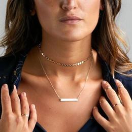 Großhandel 2017 neue Ankunft Heiße pailletten Kupfer choker halskette für frauen gold silber Multi-Layer quaste Choker Halskette Kragen Halskette