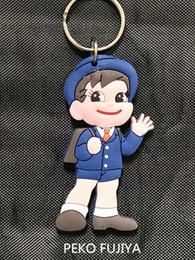 $enCountryForm.capitalKeyWord NZ - Japan Fujiya Peko Poko POP double-sided key ring cheap key chain Cute cartoon lovers keychain Boys and girls the gift