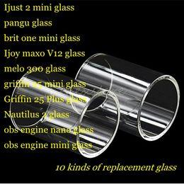 $enCountryForm.capitalKeyWord Australia - Ijust 2 pangu brit one Ijoy maxo v12 melo 300 griffin 25 plus nautilus 2 obs engine nano rta tank Pyrex Replacement Glass Tube DHL