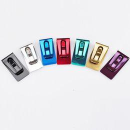 e1b3dcf70 20 Unids Nueva Venta Caliente Classtic Acero Inoxidable Negro Plata Azul  Color Rojo Slim Pocket Cash Purse Money Clip Wallet Holder