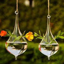 $enCountryForm.capitalKeyWord Australia - 2017 Hot Clear Water Drop Glass Hanging Vase Bottle Terrarium Container Plant Flower DIY Table Wedding Garden Decor