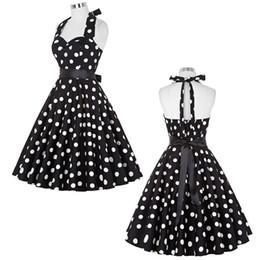 $enCountryForm.capitalKeyWord NZ - Summer Women Dresses 2017 Casual Polka Dot Retro Vintage 50s 60s robe Rockabilly Swing Pinup Party Dress Black White