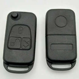 $enCountryForm.capitalKeyWord NZ - Flip remote car key shell with 4 track blade cover for Mercedes Benz 3 buttons remote key blank Fob ML SL