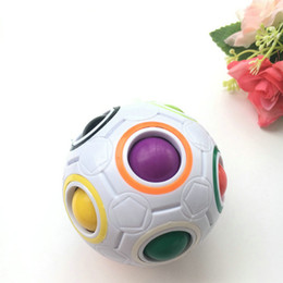 $enCountryForm.capitalKeyWord Australia - DHL10pcs Rainbow Ball Magic Cube Speed Football Fun Creative Spherical Puzzles Kids Educational Learning Toys games for Children Adult Gifts