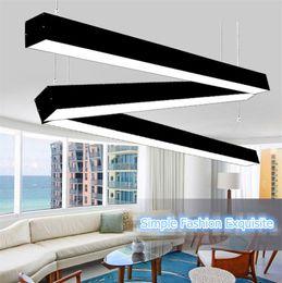 rectangular ceiling lights 2019 - 120cm office LED aluminum rectangular ceiling pendnat light modern silver led chandelier lamp fixture for dining room re