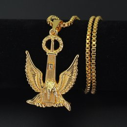 crystal eagle necklace jewelry NZ - Hip Hop Eagle Pendant Necklace Men Women Iced Out Jewelry Box Chain N710