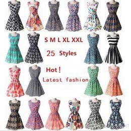 $enCountryForm.capitalKeyWord Canada - New fashion Women Casual Dress Plus Size Cheap China Dress 19 Designs Women Clothing Fashion Sleeveless Summe Dress Free Shipping