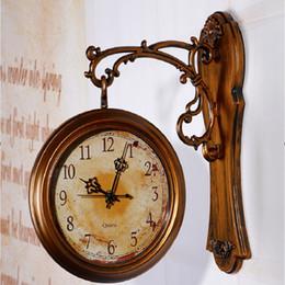 WholesaleWall Clock Modern Design Doublesided Wall Clock 3D Digital Saat  Large Vintage Wall Clocks Reloj Relogio de Parede digitalwatch