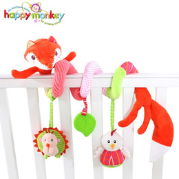 Cot Toys For Babies Australia - Wholesale- Baby Toys 0-12 Month Infant Stroller Bed Cot Crib Mobile Soft Kawaii Stuffed Plush Animal Rattle Teether Doll For Newborn Babies