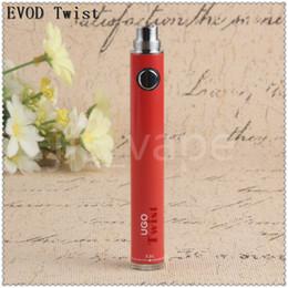 Direct ego online shopping - eVod Variable voltage vape pen eGo battery ugo twist mah adjustable voltage vv batteries china direct