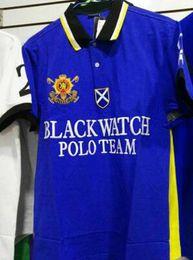 Men S Big Watch Australia - Black Watch Polo Team Mens Polo Shirt Big Horse Print Brand Casual T-Shirts Brand Clothing Short Sleeve Fashion Polos Summer S-XXL