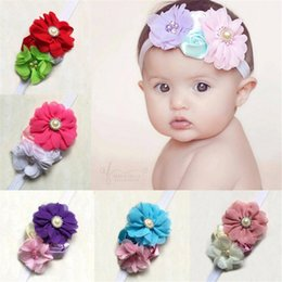 $enCountryForm.capitalKeyWord Canada - 5PCS Fashion Infant Baby Headbands Fabric Flower Girl Hairband Headwear Kids Baby Photography Props NewBorn Baby Hair bands Accessories