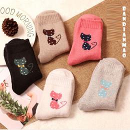 $enCountryForm.capitalKeyWord NZ - 10Pairs lot 2018 Autumn Winter women wool socks female cute cartoon animals cat patterns thicken warm cotton socks