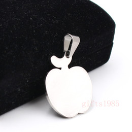 $enCountryForm.capitalKeyWord Canada - High polished Apple charm pendant stainless steel manufacture Unisex fashion small pendant necklace