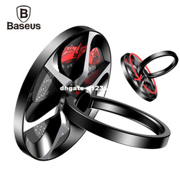 black hand ring holder Australia - dhgate Hand Spinner Finger Ring Holder Metal Fidget Finger Spinner Mobile Phone Holder Stand For i phone 7 Samsung S8 Phone Ring