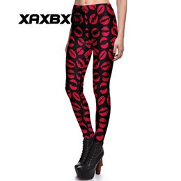 50bd943cfc5679 2017 NEW 3791 Christmas Kiss red lips Prints Sexy Girl Pencil Yoga Pants GYM  Fitness Workout Polyester Women Leggings Plus Size