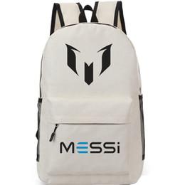ff9480045f Logo M backpack Lionel Messi school bag Soccer fans daypack Football  schoolbag Outdoor rucksack Sport day pack