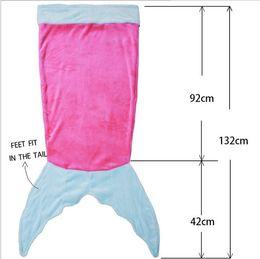 $enCountryForm.capitalKeyWord Canada - 124x104cm Kids Mermaid Tail Sleeping Bags Shark Mermaid Blankets Costumes Soft Fleece Fabric Mermail Tail blanket Shark blankets