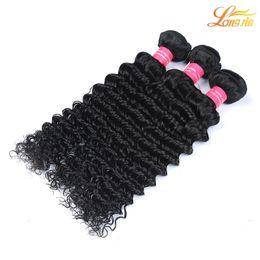 bundles hair 16 18 24 2019 - Wholesale Brazilian Malaysian Peruvian Indian Virgin Human Hair Deep Wave 100% Deep Curly Weave Human Hair Bundles Exten