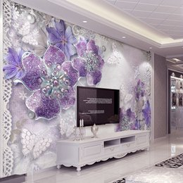 $enCountryForm.capitalKeyWord Australia - 3D Luxury Wallpaper Diamond crystal Flowers Wall Mural Custom Photo Wallpaper Bedroom Living room Restaurant Hotel Modern Art Room Decor