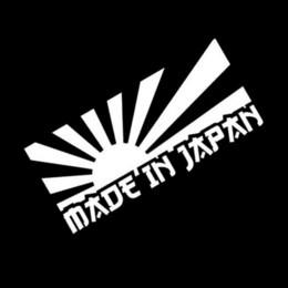 japan stickers car 2019 - 13*6CM RISING SUN MADE IN JAPAN Car Sticker Decal Motorcycle Stickers Car Styling Accessories Black Silver C1-0187 cheap
