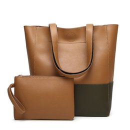 $enCountryForm.capitalKeyWord Canada - New Casual Tote Women Shoulder Bags 2 Pieces Set Female Big Bag Soft Leather Handbags Famous Brand Bolsa Feminina For Ladies